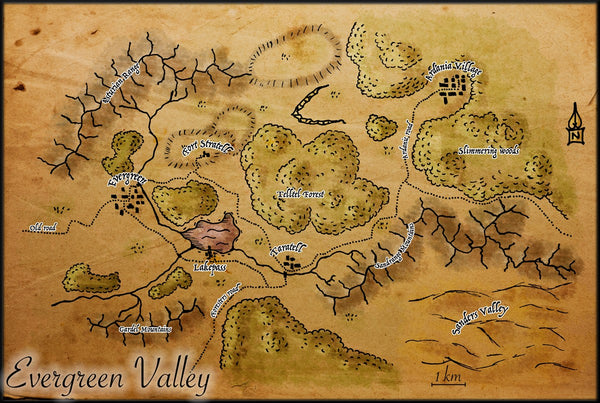 Evergreen Valley Fantasy RPG Map Gallery Canvas Elven Tower
