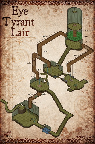 Eye Tyrant Lair Fantasy RPG Map Gallery Canvas Elven Tower