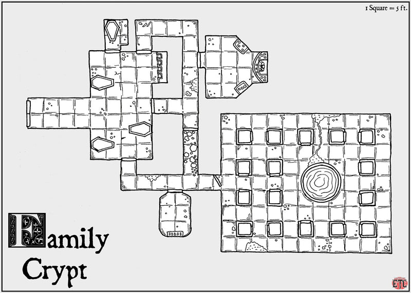 Family Crypt Fantasy Map