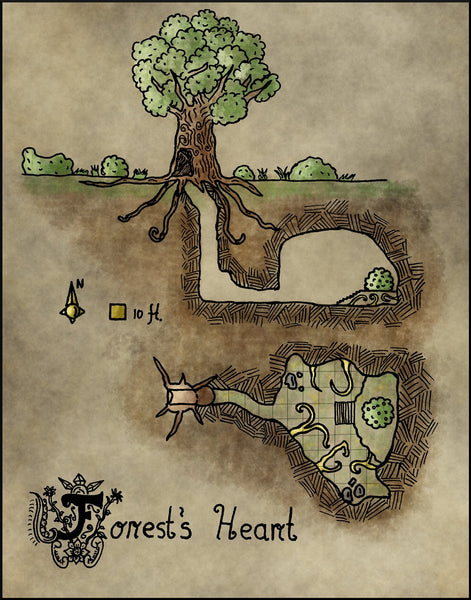 Forest's Heart Fantasy RPG Map Gallery Canvas Elven Tower