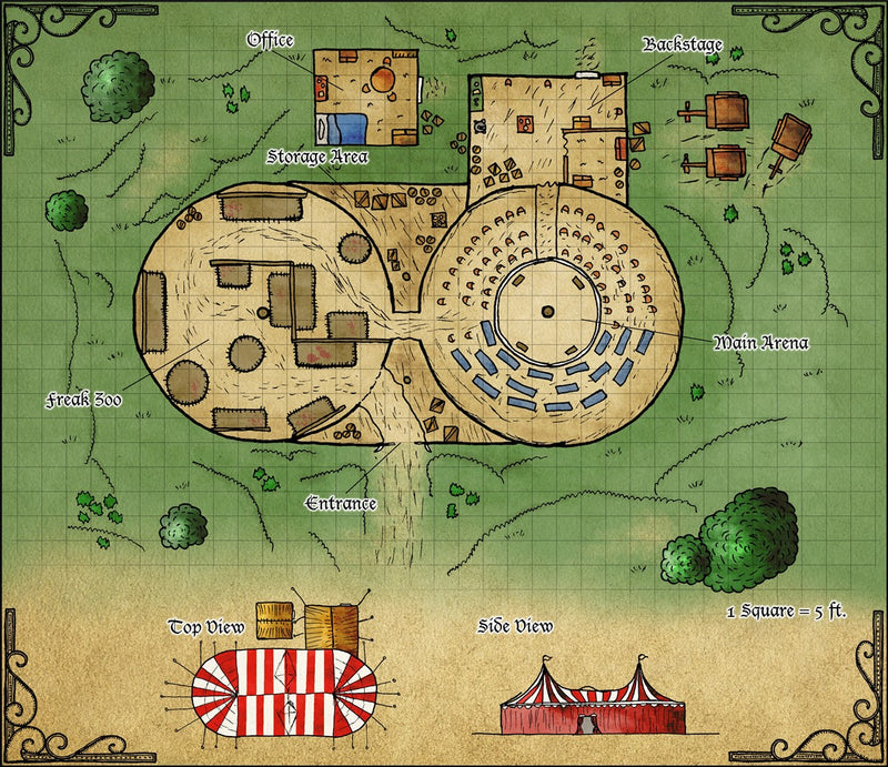 Freak Show Fantasy Map