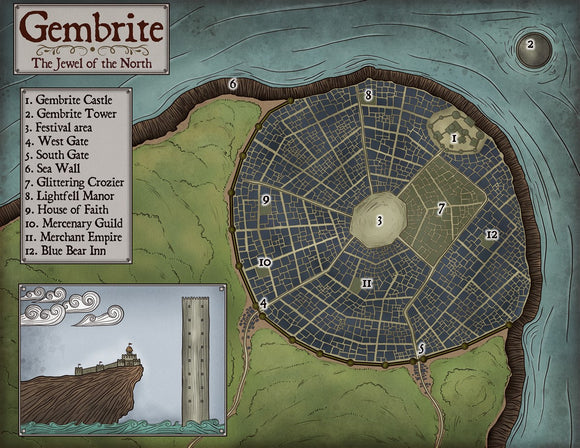 Gembrite Fantasy RPG Map Gallery Canvas Elven Tower