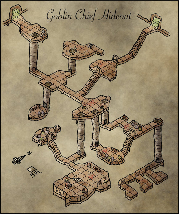 Goblin Chief Hideout Fantasy RPG Map Gallery Canvas Elven Tower