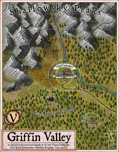 Griffin Valley Fantasy RPG Map Gallery Canvas Elven Tower
