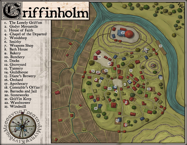 Griffinholm Fantasy RPG Map Gallery Canvas Elven Tower