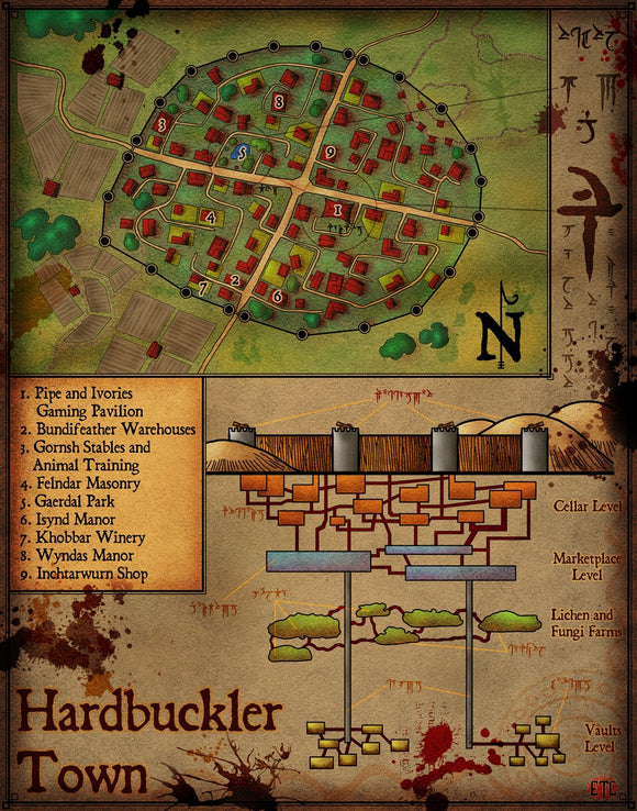 Hardbuckler Fantasy RPG Map Gallery Canvas Elven Tower