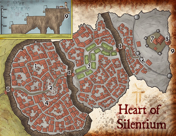 Heart of the Mountain Fantasy RPG Map Gallery Canvas Elven Tower