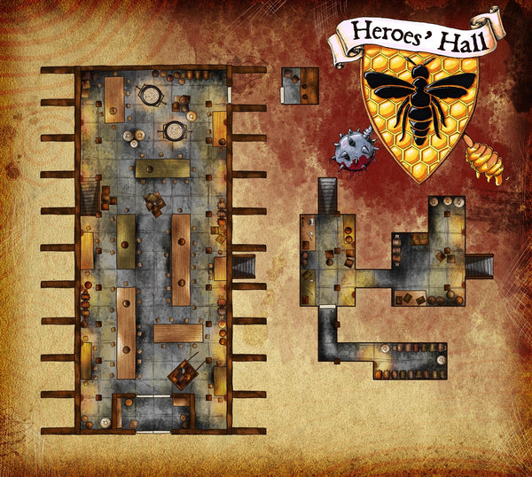 Heroes' Hall Fantasy RPG Map Gallery Canvas Elven Tower