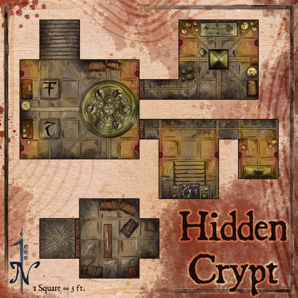 Hidden Crypt Fantasy RPG Map Gallery Canvas Elven Tower