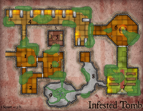 Infested Tomb Fantasy RPG Map Gallery Canvas Elven Tower