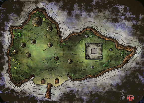 Island Camp Fantasy RPG Map Gallery Canvas Elven Tower