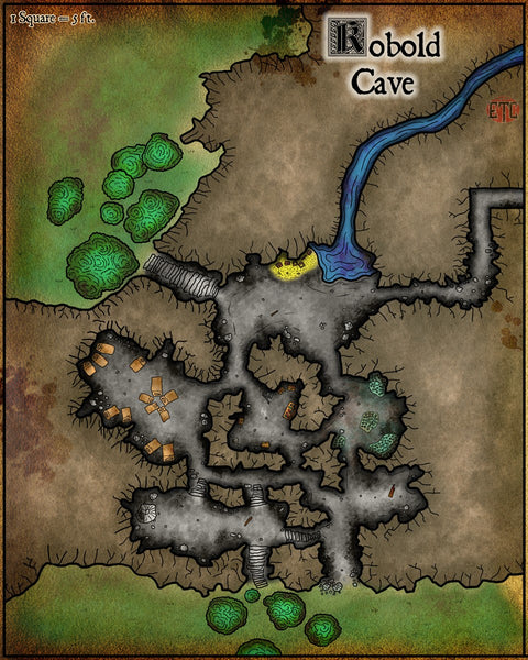 Kobold Cave Fantasy RPG Map Gallery Canvas Elven Tower