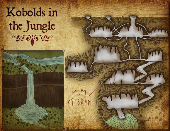 Kobolds In The Jungle Fantasy RPG Map Gallery Canvas Elven Tower