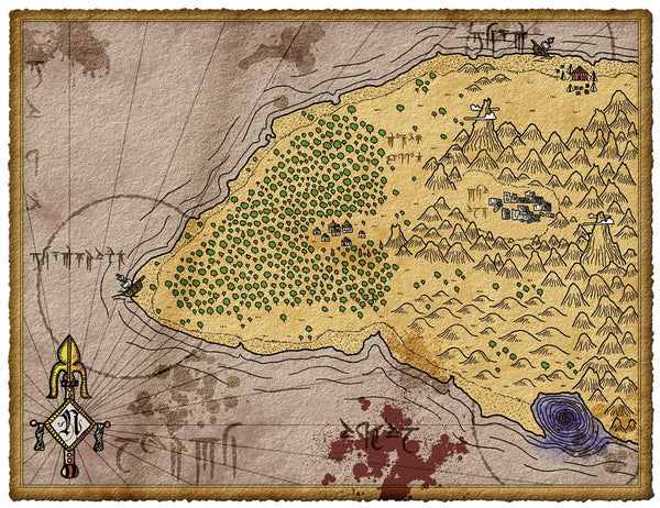Lost Island of Selu Fantasy RPG Map Gallery Canvas Elven Tower