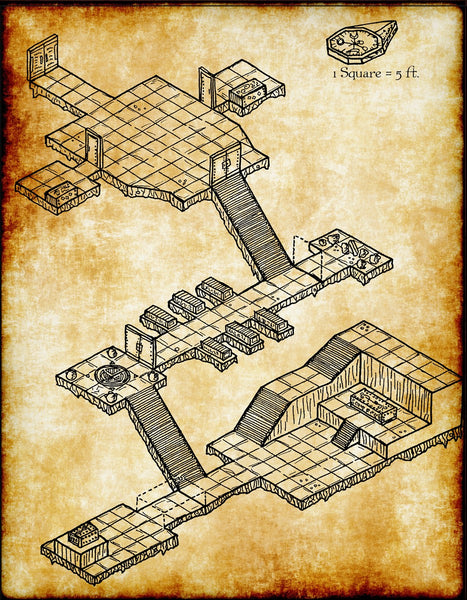 Old Crypt Fantasy RPG Map Gallery Canvas Elven Tower