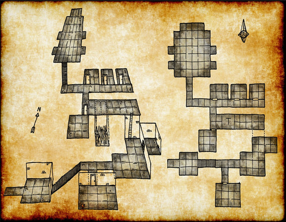 Old Dungeon Fantasy RPG Map Gallery Canvas Elven Tower