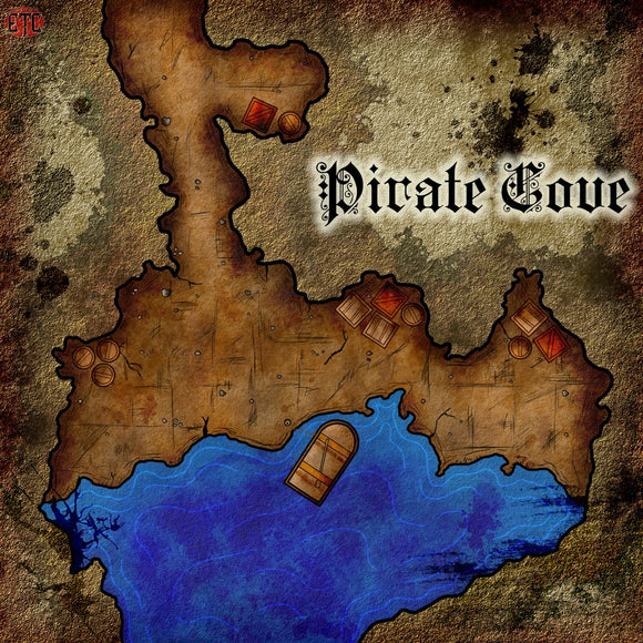 Pirate Cove Fantasy RPG Map Gallery Canvas Elven Tower