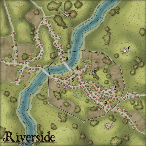 Riverside Fantasy RPG Map Gallery Canvas Elven Tower