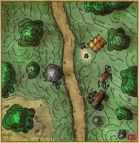 Road Encounter Fantasy RPG Map Gallery Canvas Elven Tower