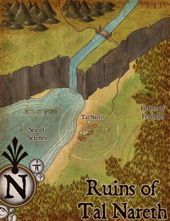Ruins of Tal Noreth Fantasy RPG Map Gallery Canvas Elven Tower