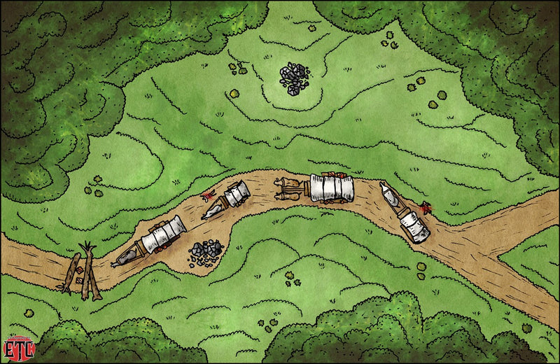 Save The Wagons Fantasy Map