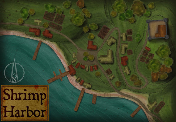 Shrimp Harbor Fantasy RPG Map Gallery Canvas Elven Tower