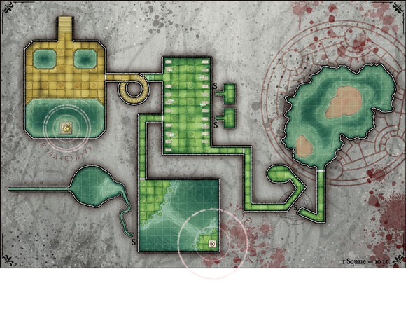 Submerged Complex Fantasy RPG Map Gallery Canvas Elven Tower