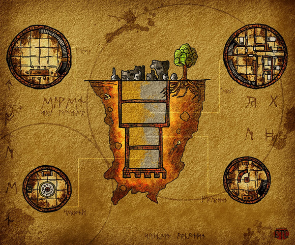 Sunken Tower Fantasy RPG Map Gallery Canvas Elven Tower