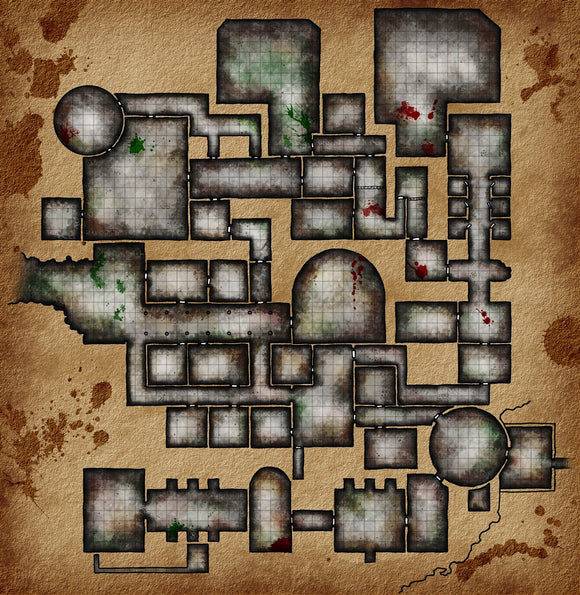 Sunless Citadel Fantasy RPG Map Gallery Canvas Elven Tower
