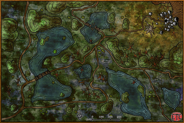 Swamp Exploration Fantasy RPG Map Gallery Canvas Elven Tower