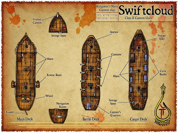 Swiftcloud Fantasy RPG Map Gallery Canvas Elven Tower