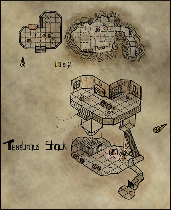 Tenebrous Shack Fantasy RPG Map Gallery Canvas Elven Tower
