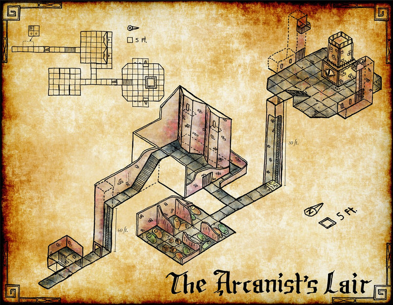 The Arcanist's Lair Fantasy Map