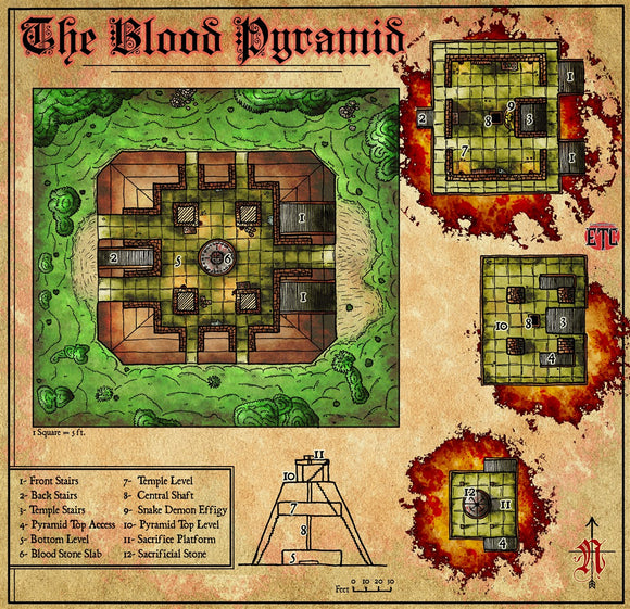 The Blood Pyramid Fantasy RPG Map Gallery Canvas Elven Tower