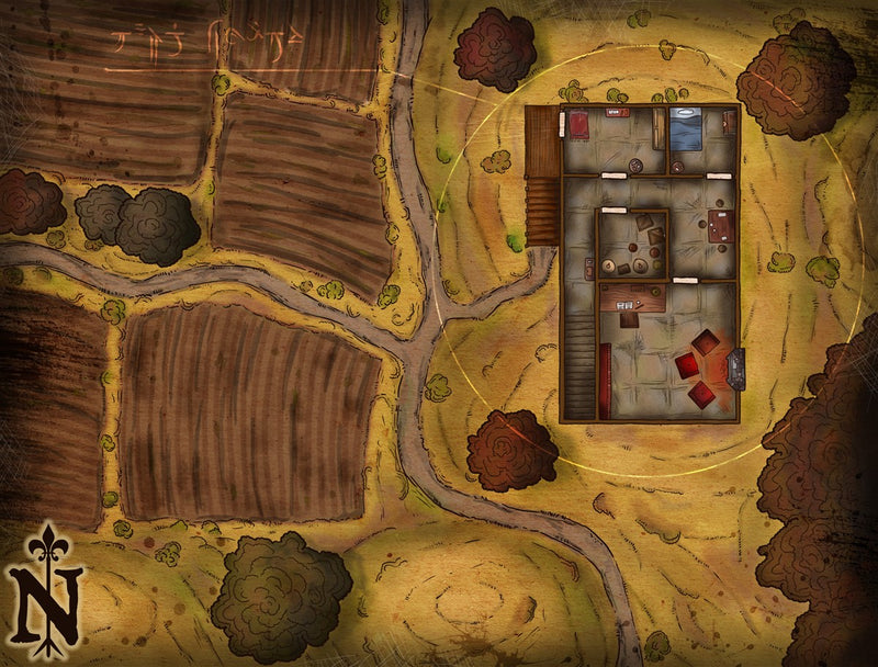 The Farmer's Mystery Fantasy Map