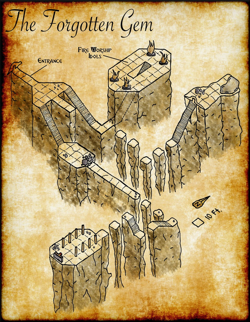 The Forgotten Gem Fantasy Map