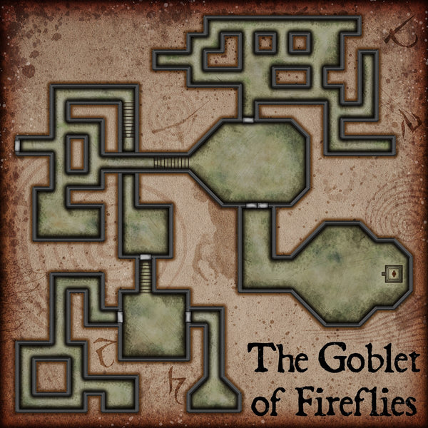 The Goblet of Fireflies Fantasy RPG Map Gallery Canvas Elven Tower