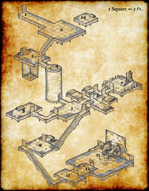 The Lost Orb Fantasy RPG Map Gallery Canvas Elven Tower