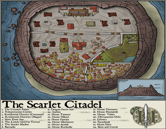 The Scarlet Citadel Fantasy RPG Map Gallery Canvas Elven Tower