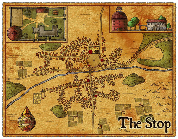 The Stop Fantasy RPG Map Gallery Canvas Elven Tower