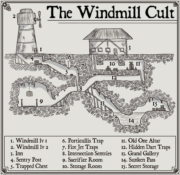 The Windmill Cult Fantasy RPG Map Gallery Canvas Elven Tower