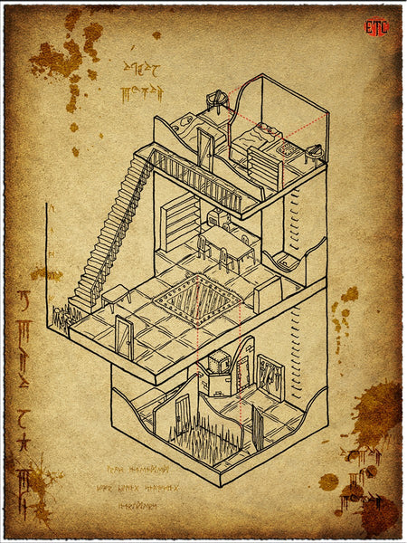Trapped House Fantasy RPG Map Gallery Canvas Elven Tower