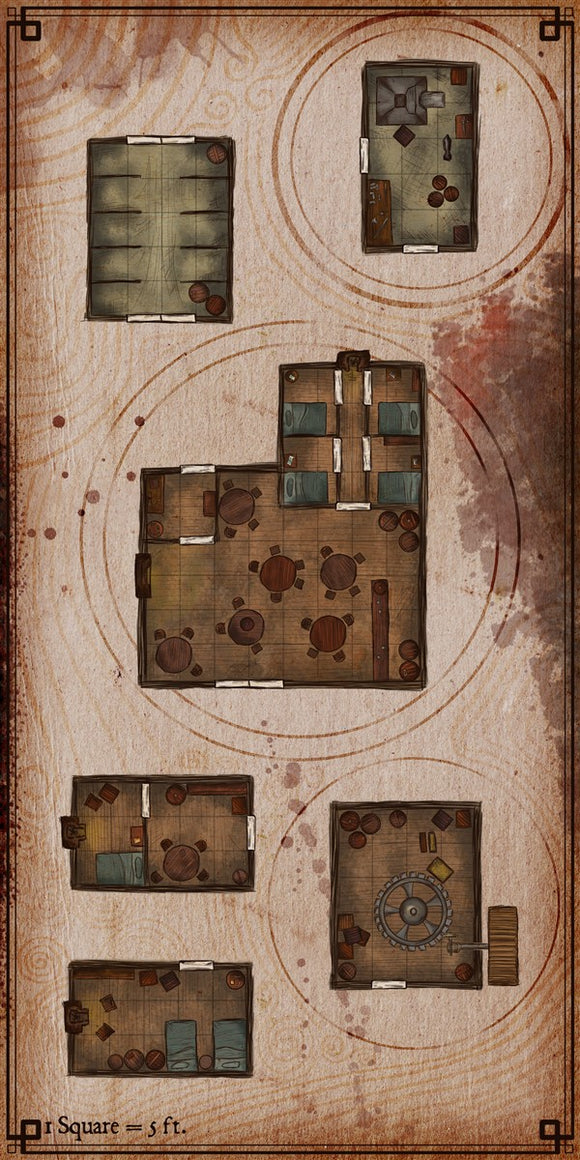 Village Houses Fantasy RPG Map Gallery Canvas Elven Tower