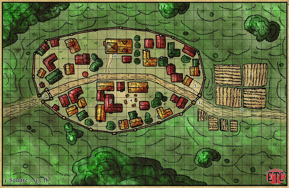 Walled Town Fantasy RPG Map Gallery Canvas Elven Tower