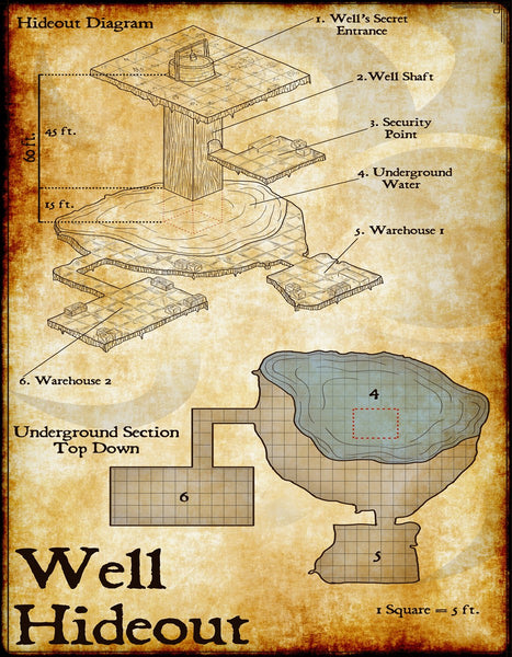 Well Hideout Fantasy RPG Map Gallery Canvas Elven Tower