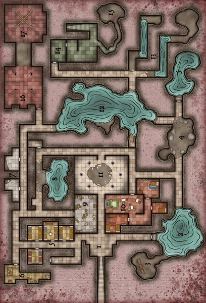 Worship of the Atropus Fantasy RPG Map Gallery Canvas Elven Tower
