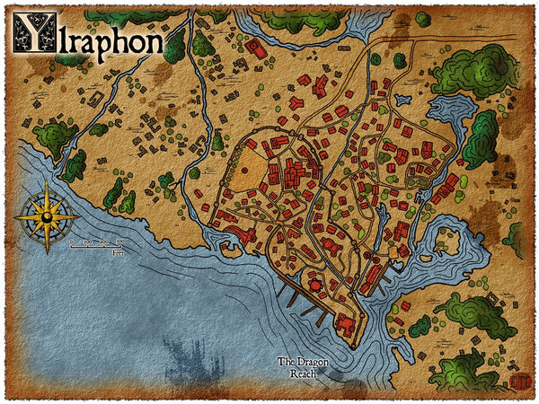 Ylraphon Fantasy RPG Map Gallery Canvas Elven Tower