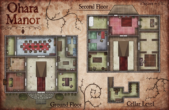 Ohara Manor Fantasy RPG Map Gallery Canvas Elven Tower