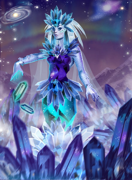 Aria Wielder Of Shards Art Gallery Canvas Print Exodus TCG