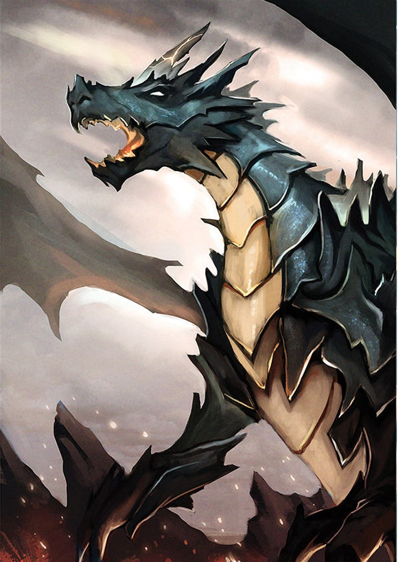 Dragon Knight Partisan Art Gallery Canvas Print Exodus TCG